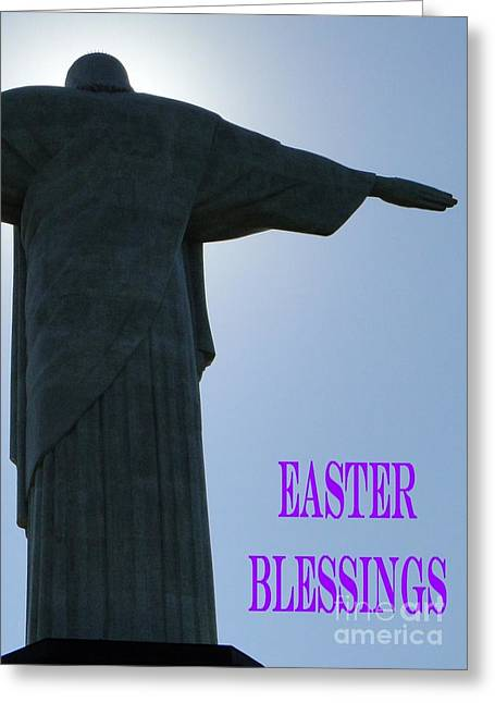 Easter Blessings Card Greeting Card by Barbie Corbett-Newmin