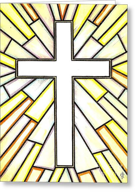 Easter Cross 3 Greeting Card by Jim Harris