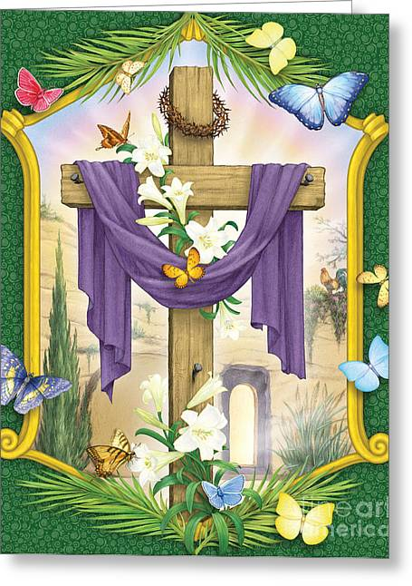 Easter Cross Greeting Card