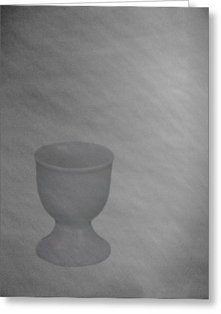 Easter Eggcup Greeting Card by Sarah Vernon