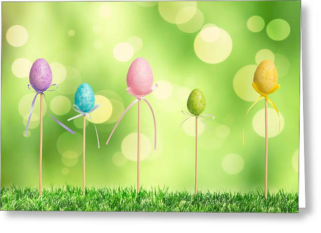 Easter Eggs Greeting Card by Amanda Elwell