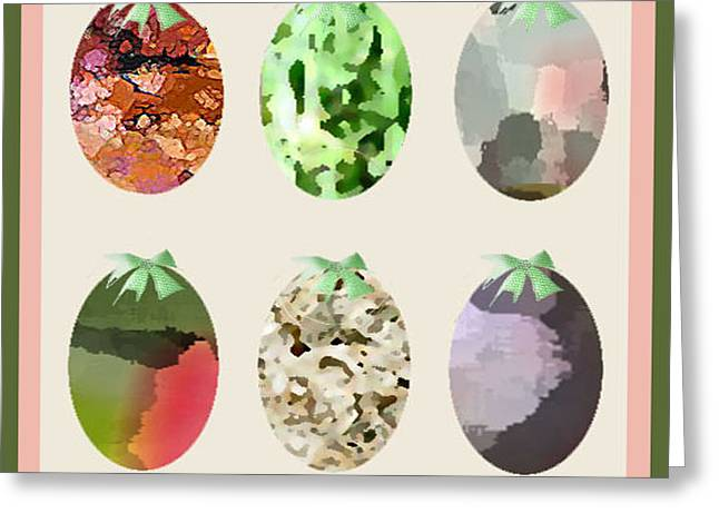 Easter Eggs Greeting Card by Gail Cramer