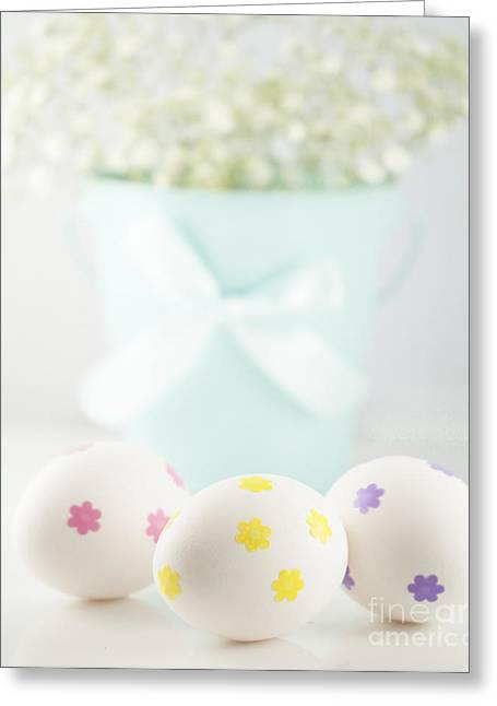 Easter Eggs Greeting Card by Juli Scalzi