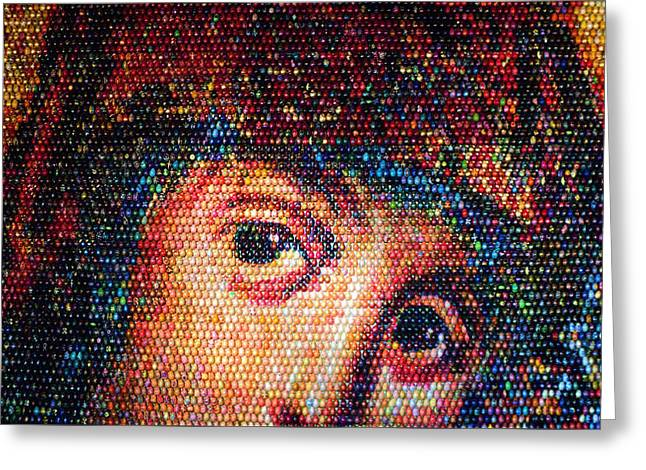 Easter Eggs Mosaic Greeting Card by Iryna Goodall
