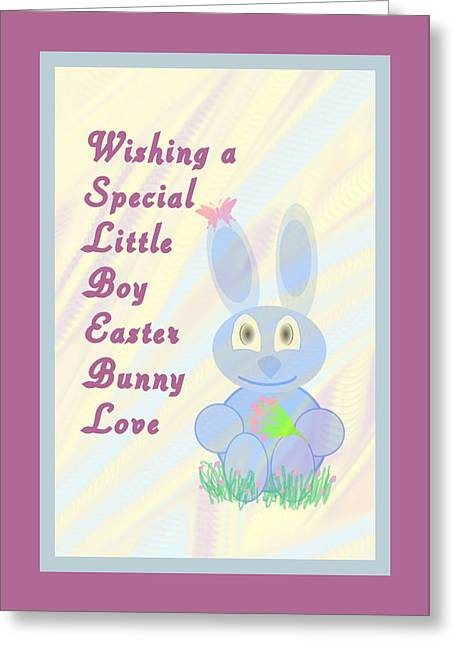 Easter For Small Boy Greeting Card by Rosalie Scanlon