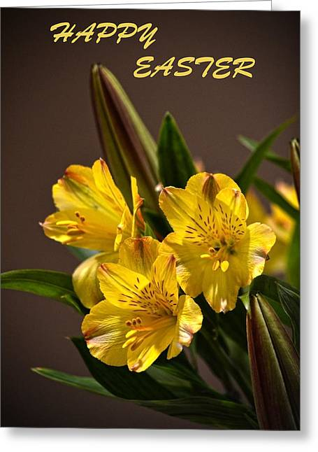 Easter Lilies Greeting Card by Sandi OReilly