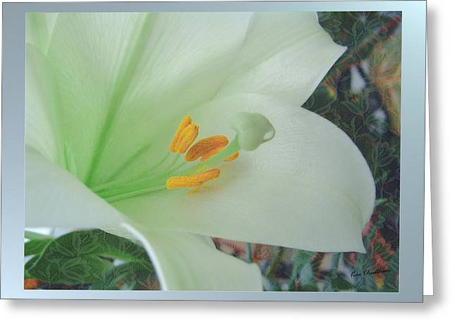 Easter Lily Greeting Card by Kae Cheatham