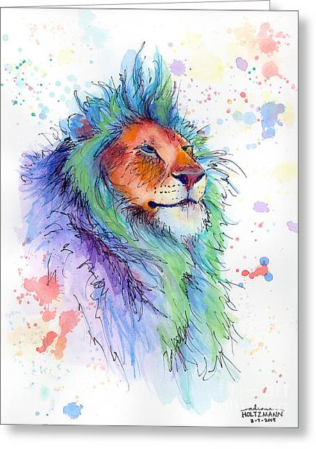 Easter Lion Greeting Card