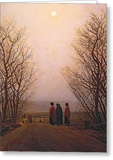 Easter Morning, 1833 Oil On Canvas Greeting Card by Caspar David Friedrich