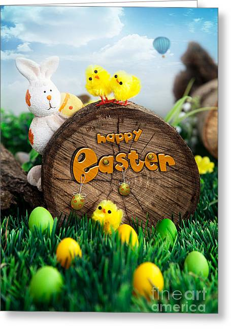 Easter Greeting Card by Mythja  Photography