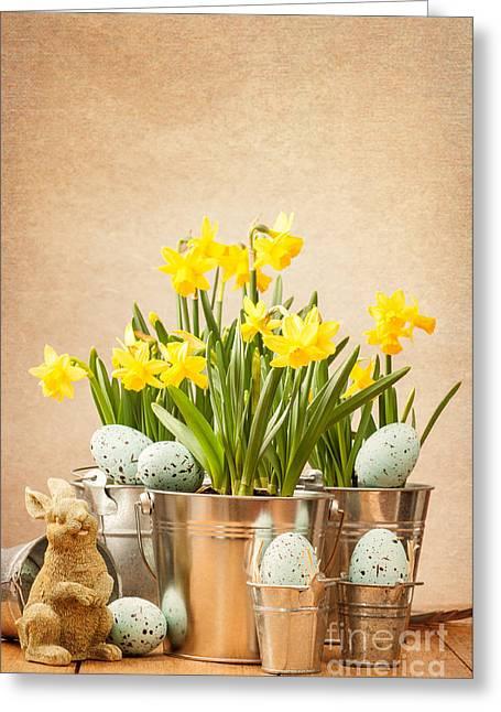Easter Setting Greeting Card by Amanda Elwell
