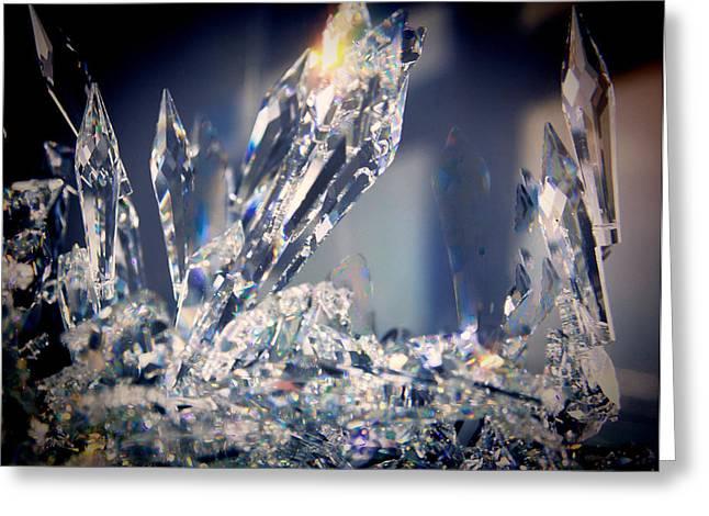 Sun Crystals Greeting Card by Kathy Bassett
