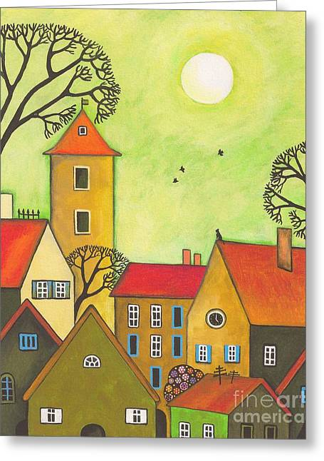 Easter Tyme In German Town Greeting Card