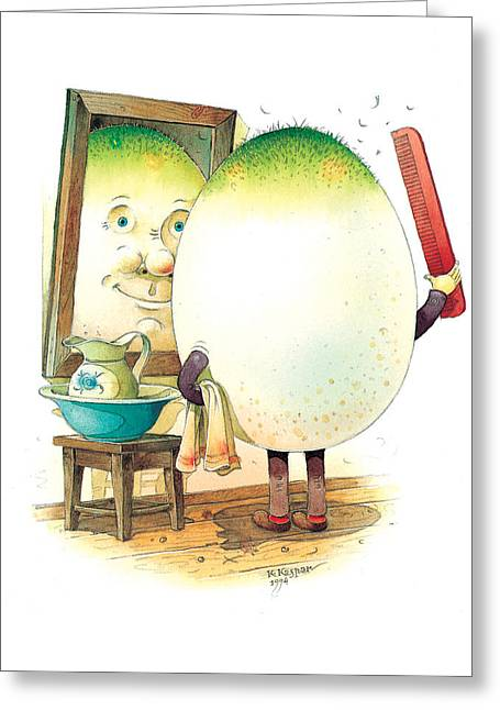 Eastereggs 06 Greeting Card by Kestutis Kasparavicius