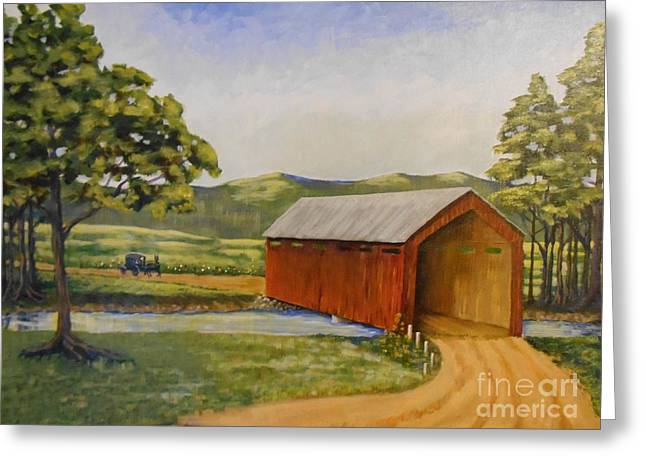 Eastern Covered Bridge Greeting Card