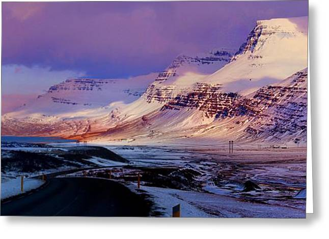 Eastern Iceland Mountain Pass Greeting Card