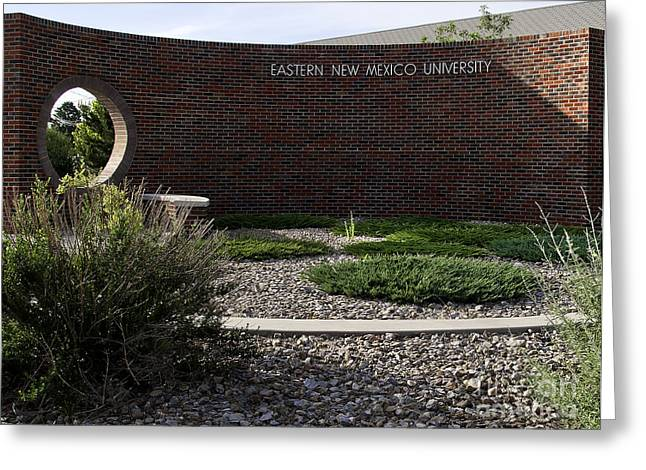 Greeting Card featuring the photograph Eastern New Mexico University by Mae Wertz