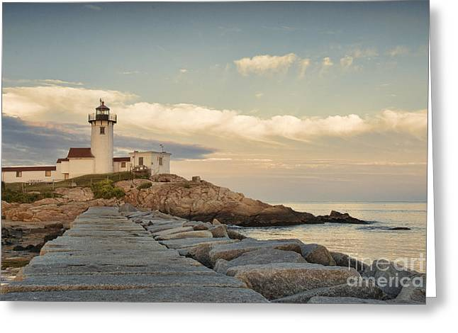 Eastern Point Lighthouse Greeting Card by Juli Scalzi