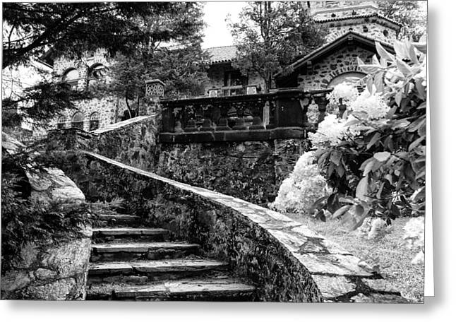 Eastern University - Stairs In Black And White Greeting Card
