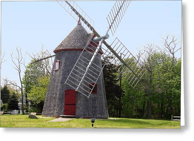 Eastham Windmill Greeting Card by Catherine Gagne