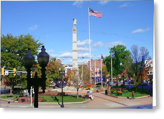 Easton Pa - Civil War Monument Greeting Card by Jacqueline M Lewis