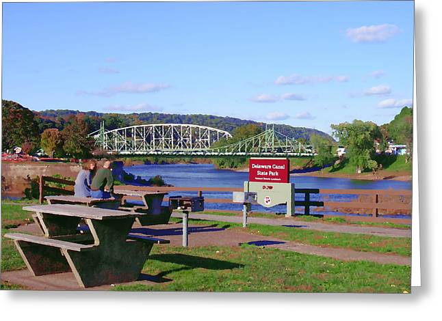 Easton Pa - Delaware Canal State Park Greeting Card by Jacqueline M Lewis