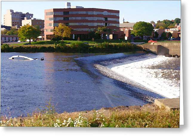 Easton Pa - Two Rivers Landing Greeting Card by Jacqueline M Lewis