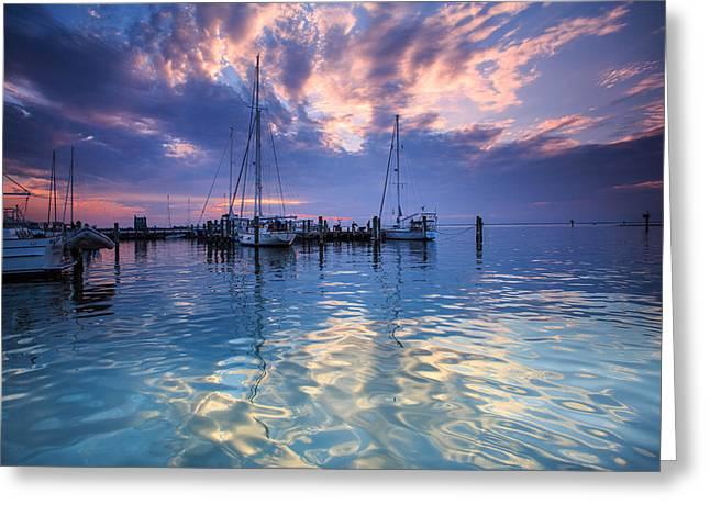 Eastport Sunrise Greeting Card by Jennifer Casey