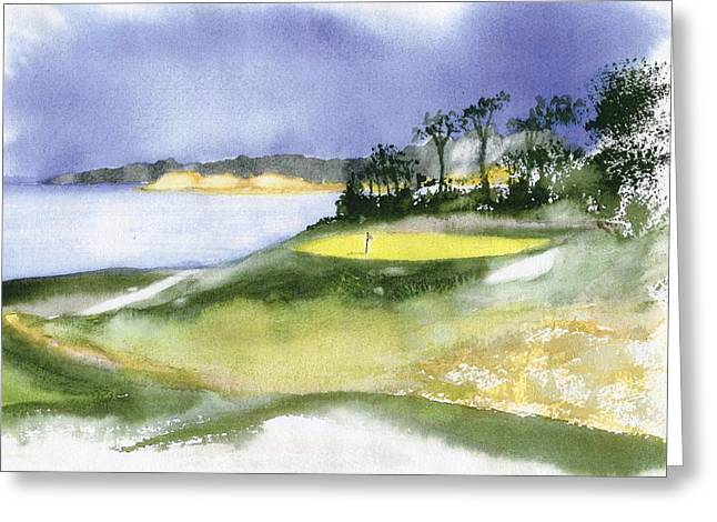 Eastward Ho Country Club Greeting Card by Joseph Gallant