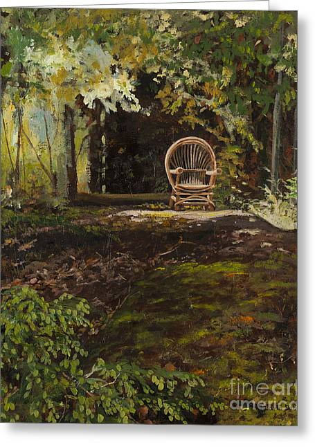 Easy Chair Greeting Card by Carla Dabney