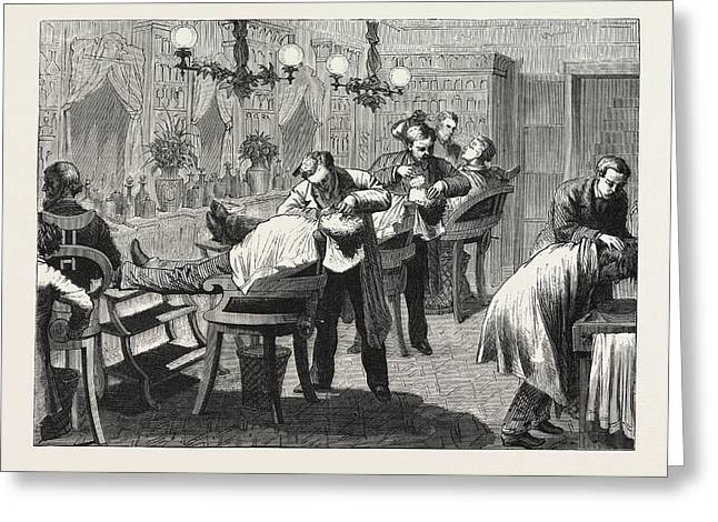 Easy Shaving, In The American Style, Engraving 1876 Greeting Card