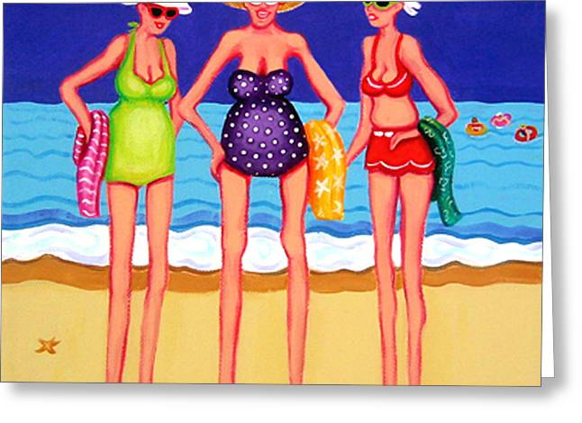 Eat At Joes - Beach Gossip Greeting Card