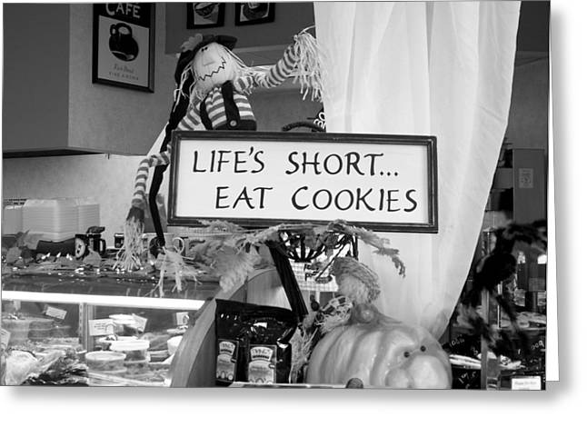 Eat Cookies Greeting Card