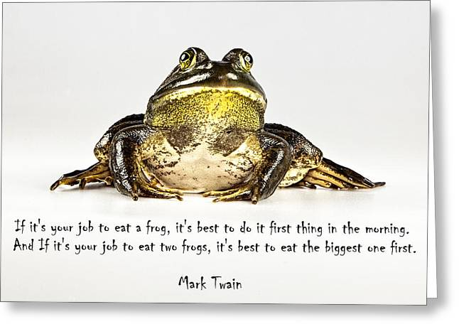 Eat Frog Greeting Card
