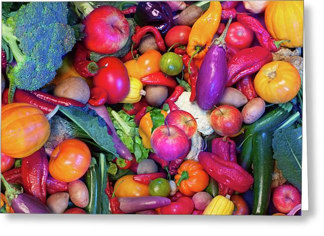 Eat Your Veggies Greeting Card by Alixandra Mullins
