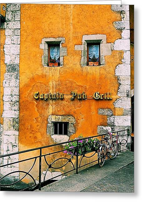 Eatery 2 Greeting Card by Maria Huntley
