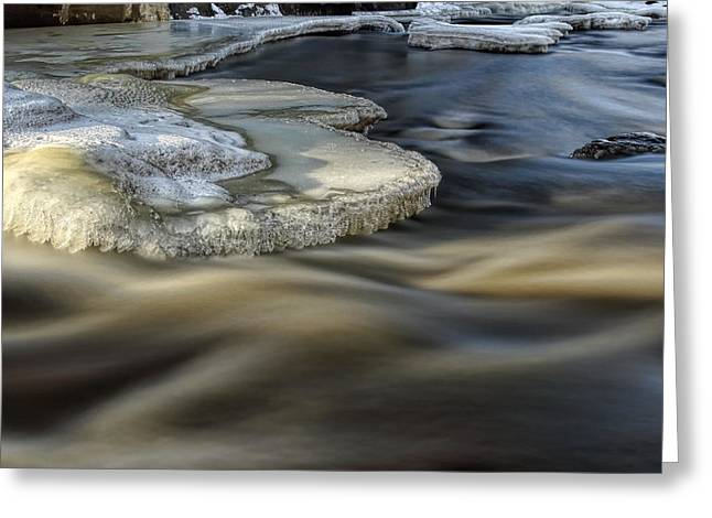Eau Claire Dells Park River Ice Greeting Card