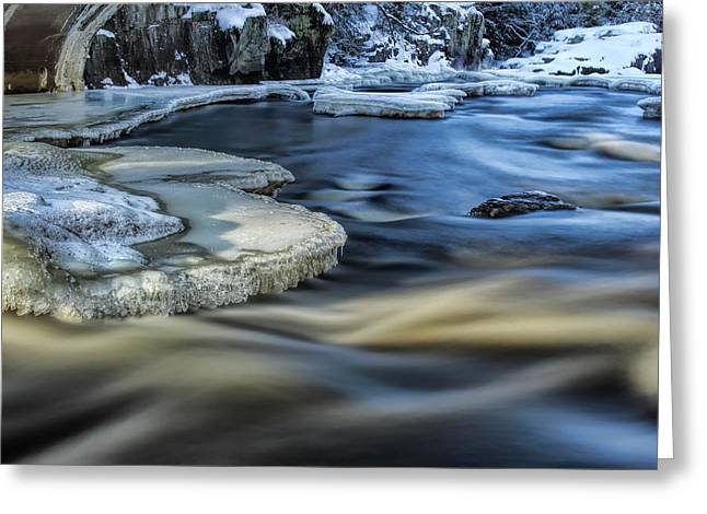 Eau Claire River Ice Greeting Card