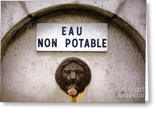 Eau Non Potable Greeting Card by Olivier Le Queinec
