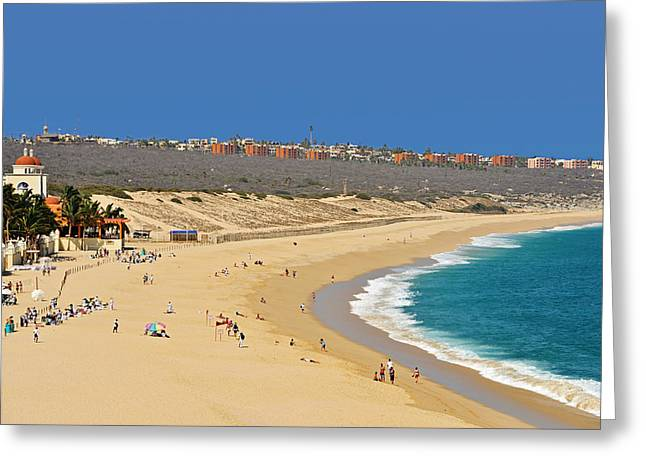 Beautiful Baja Beaches Greeting Card by Christine Till