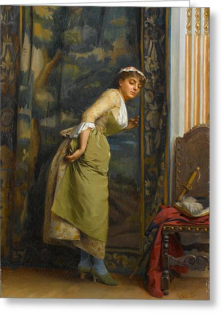 Eavesdropping Greeting Card by Theodoros Rallis
