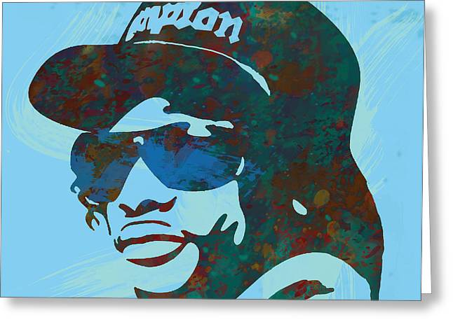 Eazy-e Pop  Stylised Art Sketch Poster Greeting Card by Kim Wang