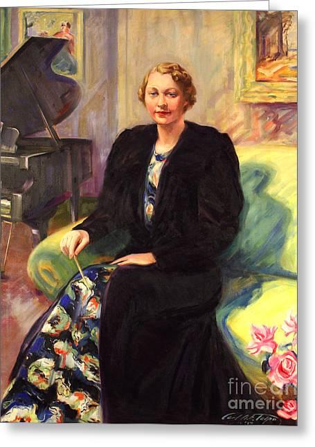 Ebba Sundstrom - -maestro 1937 Greeting Card