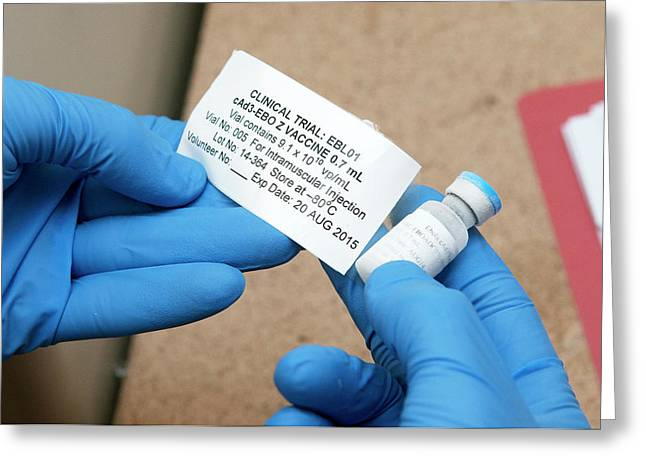 Ebola Vaccine Greeting Card by Rob Judges/oxford University Images