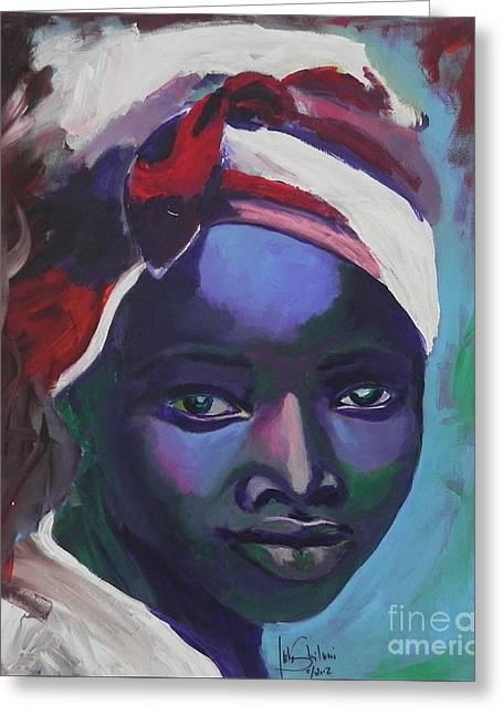 Ebony Women Greeting Card by Jolanta Shiloni