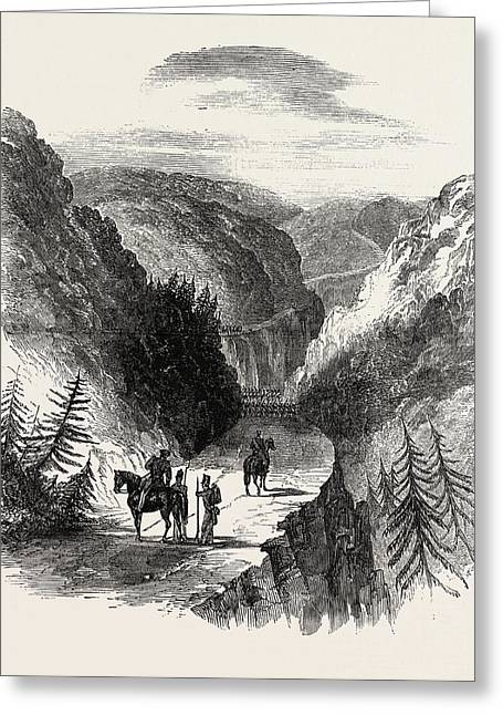 Ecca Heights Pass, Leading From Grahamstown To Fort Brown Greeting Card