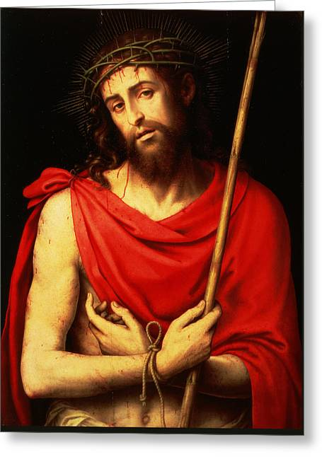 Ecce Homo  Greeting Card by Vicente Juan Macip