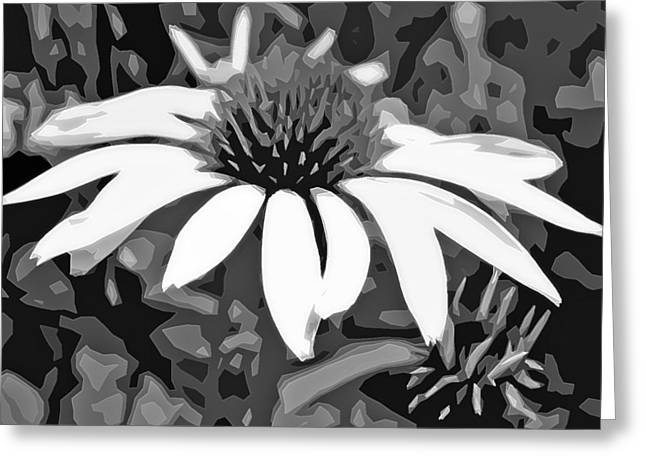 Greeting Card featuring the photograph Echinacea - Digital Art by Ellen Tully