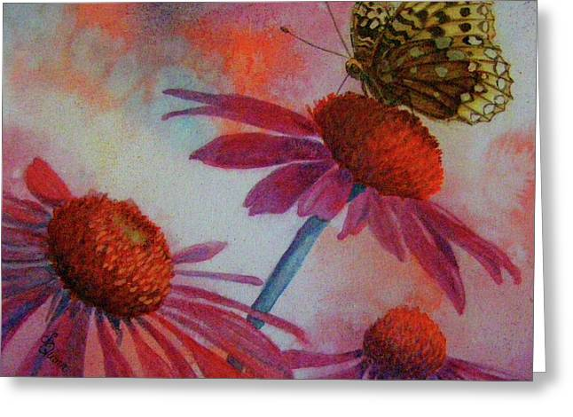 Echinacea Fritillaria Greeting Card