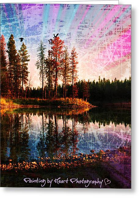 Greeting Card featuring the photograph Echo Lake In Montana by Deahn   Benware
